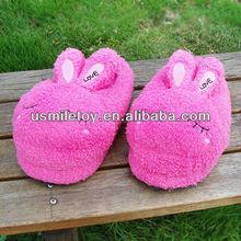 plush slipper,plush rabbit slipper, plush animal slipper
