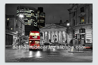 Lighting bus car creative wall art, LED wall painting designs for living room