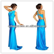 christmas evening gown celebrity graduation dresses Vestidos Blue sequined cocktail party dress