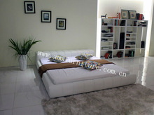 2012 lastest euro modern bedroom furniture soft double bed design F6168B