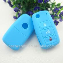 VW 3 buttons Tiguan,Touareg,Touran polo, golf silicone car remote key cover
