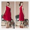 red short plus size bridesmaid dresses one shoulder dresses cocktail dresses
