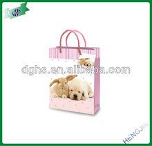 printing pink gift bags shopping bags