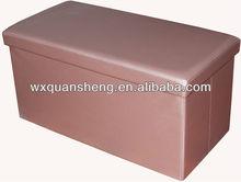 Luxury!Pink PVC Leather foldable storage bench