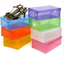 colored plastic shoes box