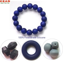 Kean Silicone Manufacture Wholesale Food Grade Bpa Freee Silicone Bead Bracelets