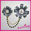 de moda las mujeres tela broche de la flor