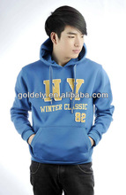 New Fashion Design Fleece Fabric Pull Over Hoody