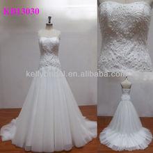 smile neckline heavy beading bridal dresses 2012