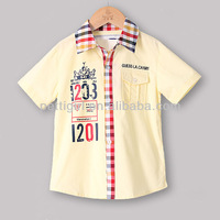 Discount Baby Boy Fashion T shirt Yellow Casual Clothing Designer New Year Chirdren Costume P121210-4