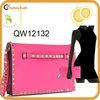 2013 studded nappa fashion leather clutch bag with wrist strap
