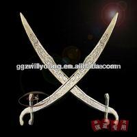 Newest gold belly dance sword,belly dance props,dance sword on sale