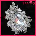 Nueva venta al por mayor de plata broche de diamantes de imitación wbr-674-2 pins