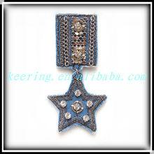 2012 Hot sale star-shape rhinestone ornament WBR-642