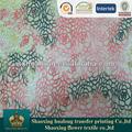 de impresión de flores de encaje vestido de noche formal telas africanas
