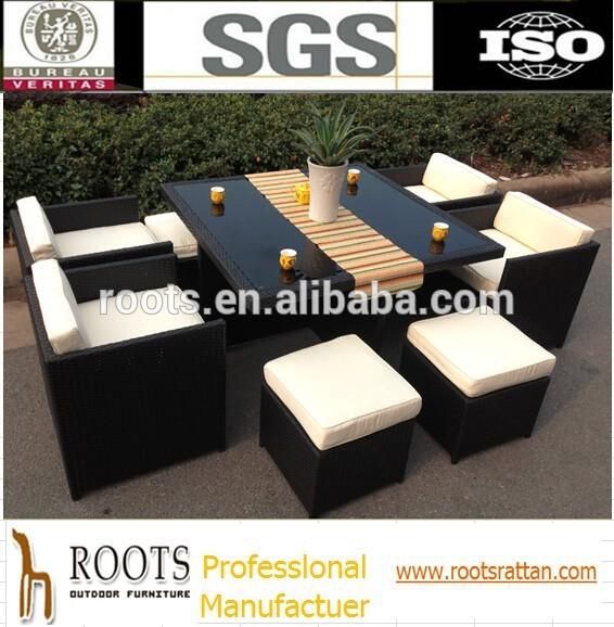 Meubles en rotin ext rieur 9pc table en osier ensemble id for Table exterieur osier