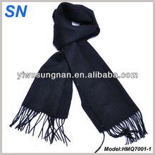Fringed pashmina wool scarf