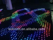 Good quality black velvet shining image city light christmas/led video cloth