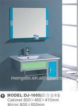 2012 green Aluminum Alloy bathroom vanity with ceramic washbasin sink