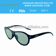 2014 new shape passive circular polarized 3d glasses for skyworth