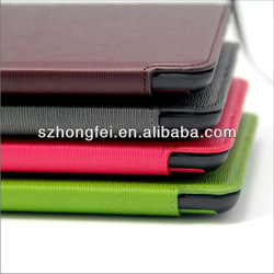 Newest high quality book type leather case for ipad mini & mini ipad &ipad mini with dormancy function