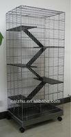 5 Levels Wooden Ladder Big Metal Ferret Cage, Chinchilla Cage, Hamster Cage