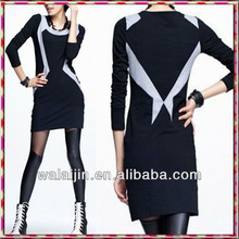 Hot sell Ladies fashion long sleeve t shirt dress for lady