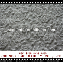 2012 new design 100% polyester embroidery fabric for garment