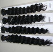 wholesale Grade AAAAA 24inch color #1 silky straight human hair weft