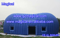 big inflatable dome house/ bule material customized inflatable event tent