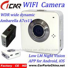 Wifi hd auto dvr, mobile telecomando, visione notturna hd auto dvr