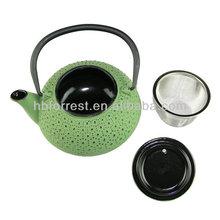 antique cast iron black enamel tea kettles