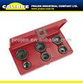 Calibre auto ferramenta de reparo 6pc 3/8 dr tipo copo do filtro de óleo chave tamanhos de filtro de óleo kit chave