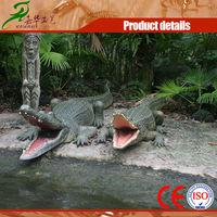 Children park equipment mechanical crocodile model for sale