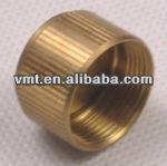straight knurling metal pipe threaded end cap