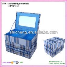 Rigid cardboard jewelry box cover fabric