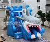 Hot sale commercial grade PVC Tarpaulin brand new SL240 inflatable giant shark slide in stock
