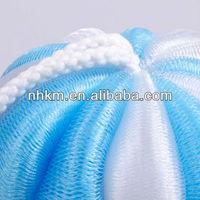 PE pumpkin mesh bath sponge , bath ball producing rich foam