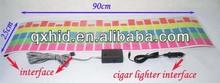 90cm x 25cm Auto LED Lights Decorative Lamps Universal Car Music Rhythm Light electroluminescent EL Panel
