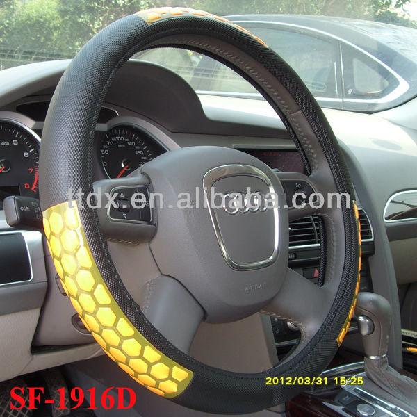 New design PVC+ reflective diamond car steering wheel cover