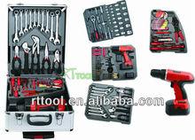 2015 new item:166pcs high quality swiss kraft aluminum hand tool set