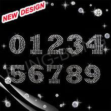 crystal rhinestone number 0- 9 fashion hotfix motif