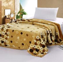 100% polyester Raschel mink blanket/raschel blanket