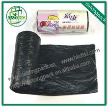 Guangzhou black HDPE plastic garbage bag on roll manufacturer plastic trash bag ldpe garbage bags