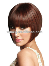 2013 low price 10inch bob style natural straight machine made integration indian remy human hair wig