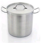 Large stainless steel cooking pots