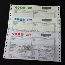 Profesional logística documentos de impresión con código de barras en China