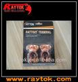 12 v de latón plateado Terminal de la batería Auto
