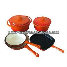 enamel coated cast iron cookware