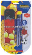 Fournitures scolaires ensemble comprenant crayon topper caoutchouc boîte d'étain